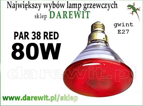 Osram Concentra czerwony PAR 80W - darewit