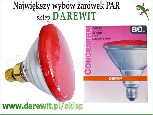 czerwona żarówka do cgromoterapii - darewit sklep Warszawa