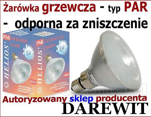 promiennik ciepła PAR38 100w - darewit