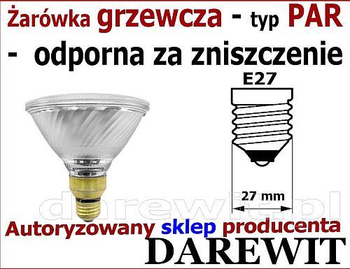 żarówka grzewcza promiennik 100W PAR - sklep darewit Warszawa