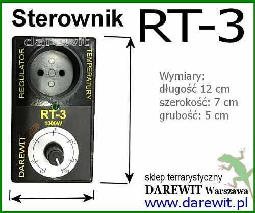 wymiary regulatora rt3  - sklep darewit Warszawa