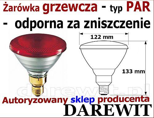 promiennik grzewczy lampa grzewcza  - darewit