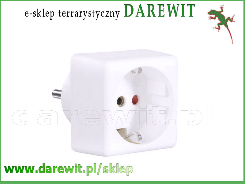 adapter schuko przejściówka gniazdko bez bolca - sklep darewit